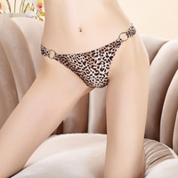 X.M Free Shipping Sexy Temptation Buckle Leopard Thong Panties