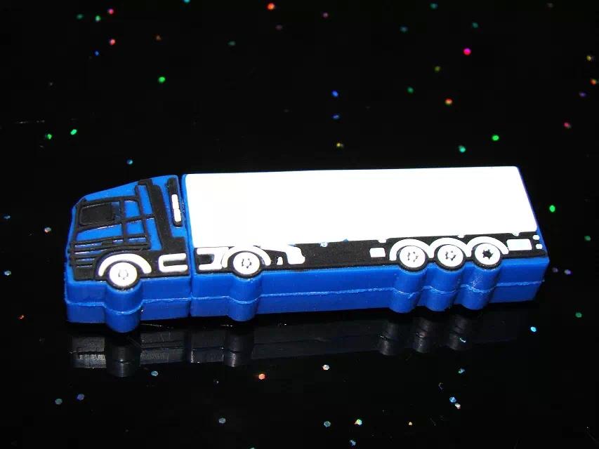 Free shipping truck style usb flash drive mini car pendrives 8gb 32gb goods train memory stick 4gb 16gb Personality gifts(China (Mainland))