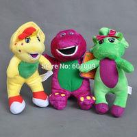 "Free Shipping New 3x Barney & Friend Baby Bop BJ Plush Doll Stuffed Toy 7"""