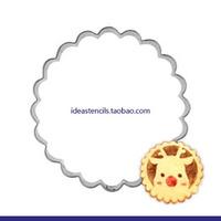 Round Round curved petal flower wreath flower leaf popular fruit cookie mold die cut