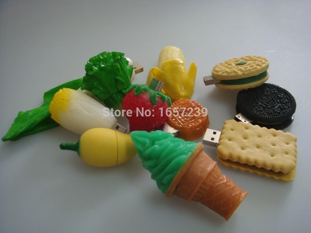 Grátis frete série de alimentos Flash Drive capacidade total 1 GB / 2 GB / 4 GB / 8 GB / 16 GB / 32 GB / 64 GB USB Flash Drive(China (Mainland))