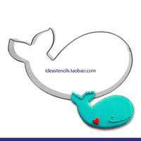 Lovely blue whale whale waters bulk whale Q version of children die cut fruit cookie mold,HMC112