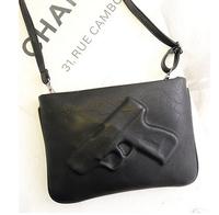 Retail 2015 Women's Handbag fashion pistol bag Day Clutches Envelope Bag Preppy style Vintage Messenger gun 3D Bags SG008