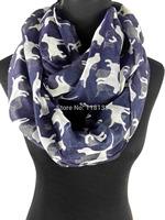 Animal Labrador Dog Print Women's Infinitiy Snood Scarf  Ladies  Accessories for Gift, Free Shipping