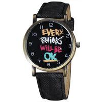 New Women's Fashion Watches Vintage GRAFFITI Retro Dial Quartz Watch Women Brand New Wristwatches Bracelet relogio femilino 4758