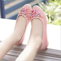 New 2015 Women Flats Shoes Pu Leather Platform Slip Shose Maternity Floral Sandal Sapatos Femininos Black Casual Shoe