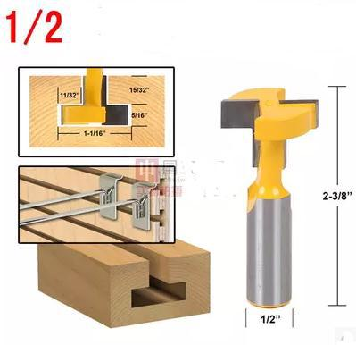 Woodworking milling cutter engraving machine straight edge type T cutter 1 2 5 16