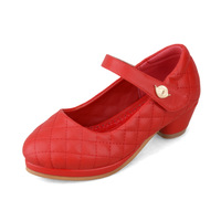 2015 spring children Quilted shoes girl princess shoes single shoes big girls heels high heeled kids PU leather summer shoes