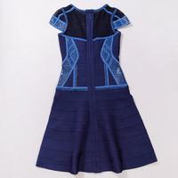 Blue Cute Girl 2015 A-line short sleeve High Quality HL kim kardashian Party dresses celebrity short prom dresses Drop Shipping