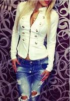 New Fashion Double-Breasted  Hot SaleFashionable Stand Collar Zipper Women's Jacket Button Design Long Sleeve Short Women Coat