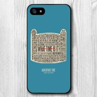 New Case For iPhone 6 5 5S 5C 4 4S and 6 Plus Adventure Time Quotes Protective Hard Cover Cases