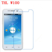 10pcs/lot Clear Screen Protector Guard Cover Film For THL W100 without Package Free Shipping