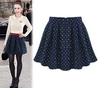 New Spring Summer 2015 Woman Ladies Saias Femininas Short High Waist Ball Gown Basic Skirts Female Womens Mini Skater Skirt