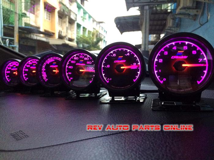 Gred * * 7-Color-In-1 60 мм шаговый двигатель мульти d / a турбо наддува метр с жк-дисплеем