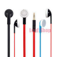 3.5mm Flat Wire Headphone Earphone For MP3 Iphone Samsung Mobile Phone