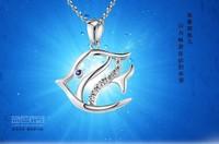 original design s925 silver necklace fashion pendant Women small fish silver jewelry