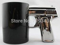 New Best Gift BLACK&SILVER-Pistol Cup,Gun Mug,coffee Mug tea mug free shipping
