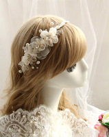 The bride hair accessory handmade champagne flower hair bands marriage accessories wedding accessories