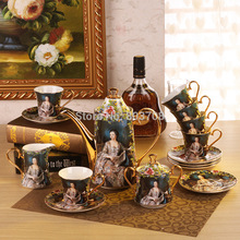 Free shipping 2014 15 European high-grade bone china coffee afternoon tea suit British ceramics coffee cup and saucer Set