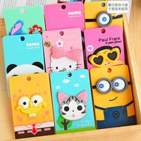 Ultra-thin portable card pack Korea cartoon cute card package clip card bit bus card Taoka package keychain ring