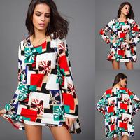 2015 new plus size big swing fashion dress women dress