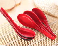 5pcs Melamine Spoon Tableware Dinnerware Feeding Rice Soup Spoon Utensil for Restaurant Hotel Party