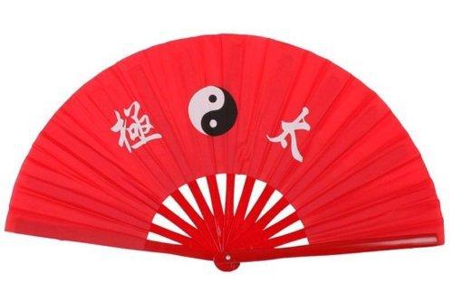 Chinese Kung Fu Red Bamboo Tai Chi Fan Martial Arts Practice Performance Supplies(China (Mainland))