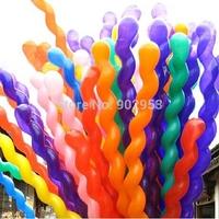 Free shipping 5000PCS/Lot Twist Spiral Latex Balloons Wedding Kids Birthday Party Decor Toy Gift