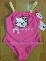 Retails(2-8Y) girls swimwear, petti hello kitty swimsuit for summer , beach wear, girls one-piece swimsuit free shipping