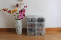 High Quality Transparent Shoe Box Clear PP Plastic Home Storage Box for Shoes Organizer Cases 6pcs/lot Freeshipping