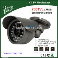 Best price 700TVL CMOS 960H 30pcs IR leds Day/night waterproof indoor / outdoor CCTV camera with bracket. Free Drop Shipping