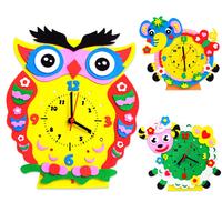 Hand Cartoon clock handmade sticker EVA Kids handmade toys house decoration