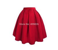 2015 Spring New Brand Designer Woman Elegant Little Black A-Line Mini Pleated Skirt High Waist Tutu Mini Saias Femininas Curtas