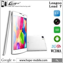 "Original Leagoo Lead 7 MTK6582 Quad Core WCDMA Cell Phones Andrioid 4.4 1GB RAM 8GB ROM 5.0"" HD IPS 13MP Camera 4500mAh Battery(China (Mainland))"
