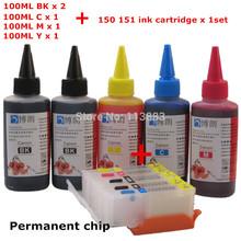 PGI-150 Refillable ink cartridge for CANON IP7210 MG5410 MX721 MX921 MG5510 IX6810 printers + Dey ink 5color Universal 500ml