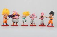 Dragon ball z Super Saiyan 3 Goku Buu Gohan PVC Model Figure 6pcs Set