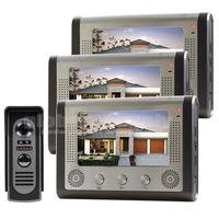 """7"""" Door Bell Wired Video Door Phone System Home Security Entry 2 Way Intercom IR Camera"""