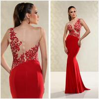 New listing scoop neck appliqued sheath long evening dress dress special occasion dresses