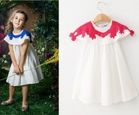 2015 New Arrival Girls Dress Lace two-piece shawl + shoulder-straps Baby dress set
