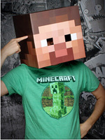 Free ship!! Peper minecraft steve mask toys for Christmas gift ,minecraft toys steve of creeper my small world,minecarft mask