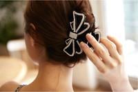 Vintage Women Crystal  Hair Accessories Hairpin Fashion Butterfly Shape Hair Claws Headwear