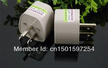 Free Ship Universal Travel Adaptor US Adaptor Converter 3 Pin AC Power Plug Adaptor Connector electrical plug(China (Mainland))