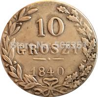 Poland 1840 10 Grosz coins copy Free shipping