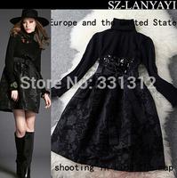 2014 eukropean wholesale hot sale newest fashion fat lady dress ladies dress woman DRESS