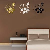 Free Shipping Modern 3D DIY Frameless Fairy Sticker Wall Clock Watch Home Room Decor   K5BO