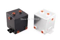 aluminum universal fuel surge tank&fuel cell&oil tank 2L for universal car model 5 hole