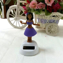 Free Shipping 5 Pieces Per Lot Swing Under Full Light  Hula Girl  Car Decoration Solar Dancing Doll Solar Energy Gifts (China (Mainland))