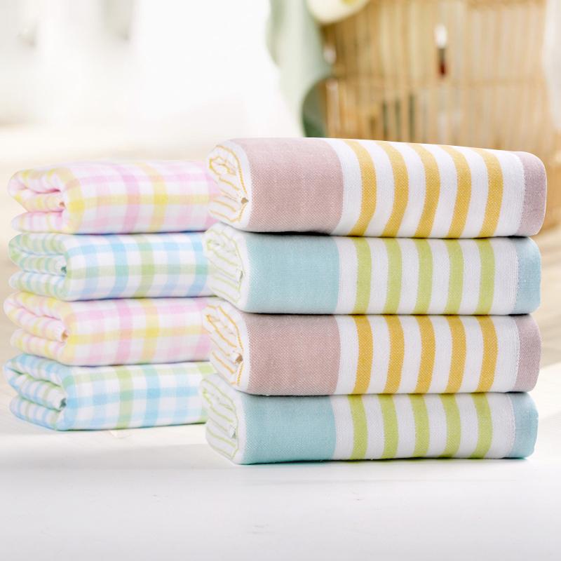 New 2015 Brand Towel -1PC/lot 100% Cotton Gauze Towel toalha de banho Hand Towel for Adult Towels Bathroom Face Cloth(China (Mainland))