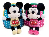 2015 New Baby Mini Backpack Mickey Cartoon Boy Girl Shoulders Bags Lovely Kindergarten School Bag Sky blue Rose Hot Sale 8235430