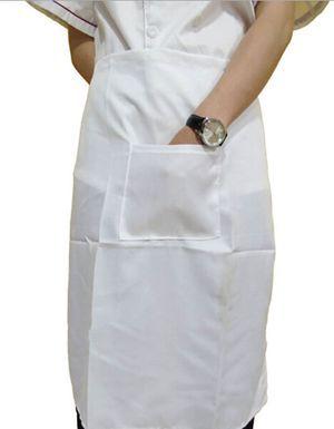 Nice Waitress Apron Brand Random Color Cooking Apron Kicthen Apron With A Big Pocket For Women Men(China (Mainland))